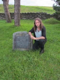 John Callow at Manx Quaker burial ground