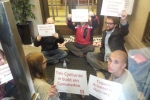 Sit in at Welsh Government offices