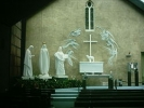 Altar sculpture at Knock, based on the apparition