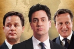 Clegg, Miliband and Cameron