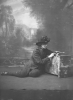 Countess Markievicz pictured in uniform with gun