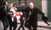 Edward Daly on Bloody Sunday - photo by BBC journalist John Bierman