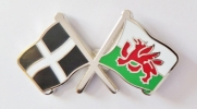 Flags of Cornwall and Wales