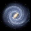 Milky Way, showing the location of the Sun. Illustration from wikipedia