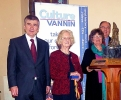 Hon Phil Gawne MHK and Geoff Corkish MBE MLC with Mrs Joan Caine and Mrs Margaret Kennaugh