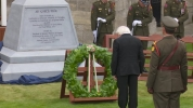 RTÉ  image President Higgins lays wreath at new Famine memorial