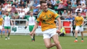 Darragh Rooney celebrates after scoring: picture from Raidió Teilifís Éireann