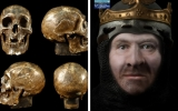 Reconstruction of the face of Robert the Bruce. Images from University of Glasgow