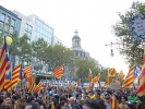 Supporters of Catalan independence 2012 photo Pere prinz