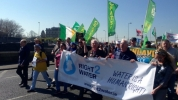 Protest against water charges picture from RTE